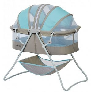 dream on me karley bassinet blue and grey