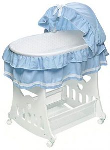 Portable Rocking Baby Bassinet with Toybox Base