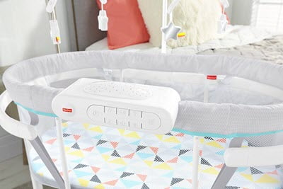 Fisher Price Soothing Motions Bassinet mobile device