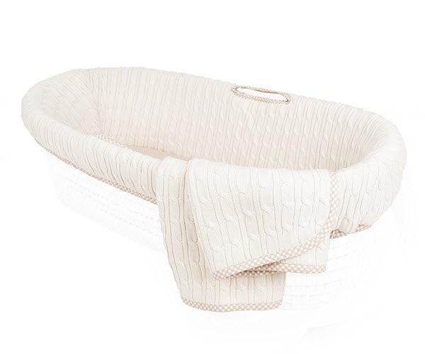 Tadpoles Moses basket bedding set grey