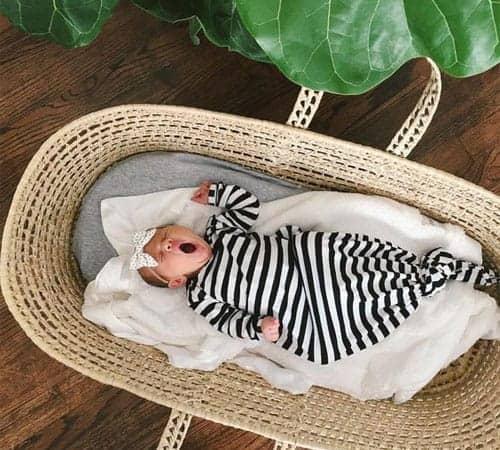 moses basket bedding set grey