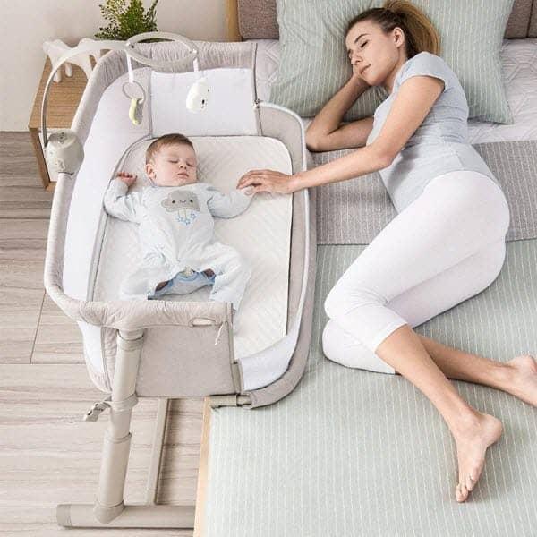 Ronbei Bedside Co Sleeper Side Bed Bassinet