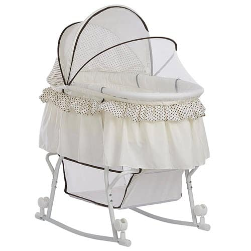 Dream on Me Lacy 2-in-1Rocking Bassinet With Wheels