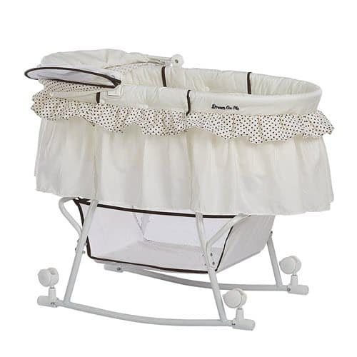 Dream on Me Lacy Portable 2-in-1 Bassinet canopy fold