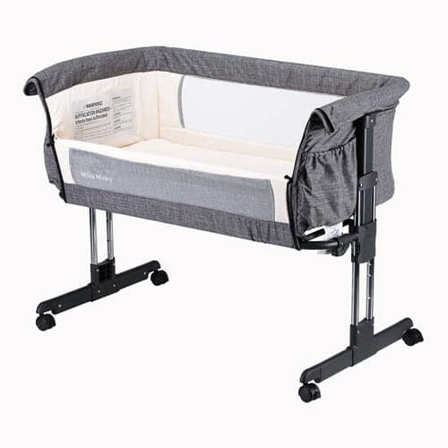Mika Mickey Bedside Co Sleeper Bassinet With Wheels