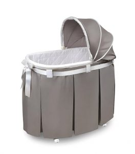 Wishes Oval Rocking Baby Bassinet with Bedding