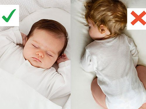 always place your baby on its back for safe sleeping