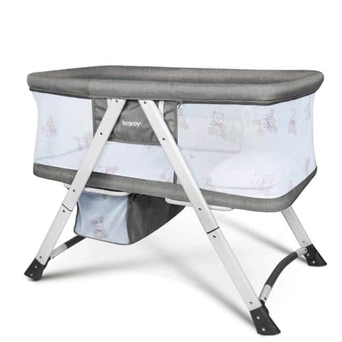 Besrey Travel Baby Bassinet With Storage Underneath