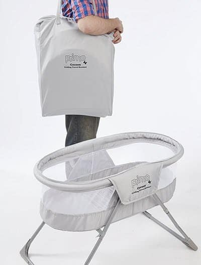 Primo Cocoon Folding Indoor & Outdoor Travel Bassinet with Bag