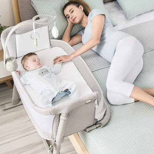 RONBEI Bedside Co Sleeper For Baby