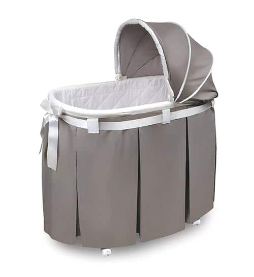 Wishes Oval Rocking Bassinet With Wheels And Storage