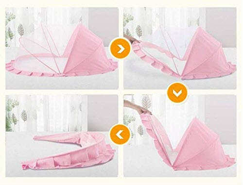 Baby Bed Portable Folding Baby Crib Mosquito Net Cots