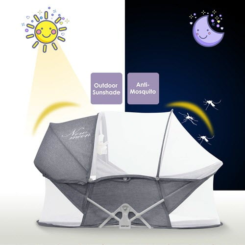Beberoad Portable Bassinet With Mosquito Net
