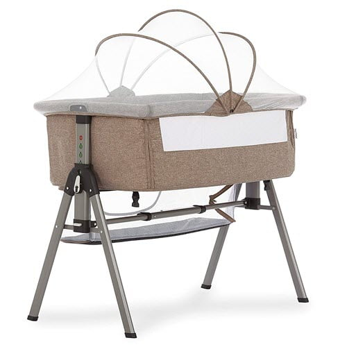 Dream on Me Lotus Bedside Bassinet With Net