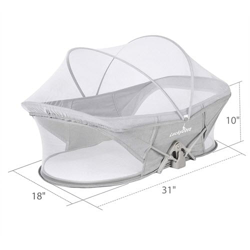 Luckydove Travel Bassinet With Net Cover
