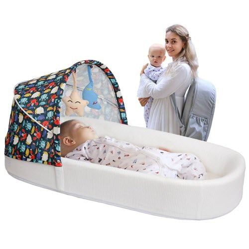MTWML Portable Bassinet With Mosquito Net