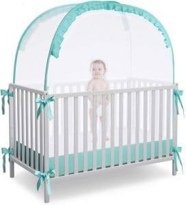 RUNNZER Crib Pop Up Tent mosquito net for crib