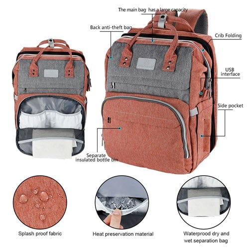 WBDRIM Diaper Bag Backpack