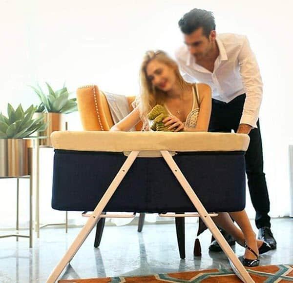 Rocking Chair Newborn Bassinet Cradle Lightweight and Transportable