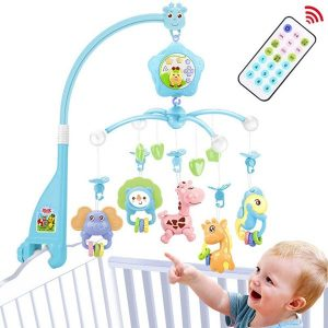 Caterbee Baby Mobile for Bassinet With Light