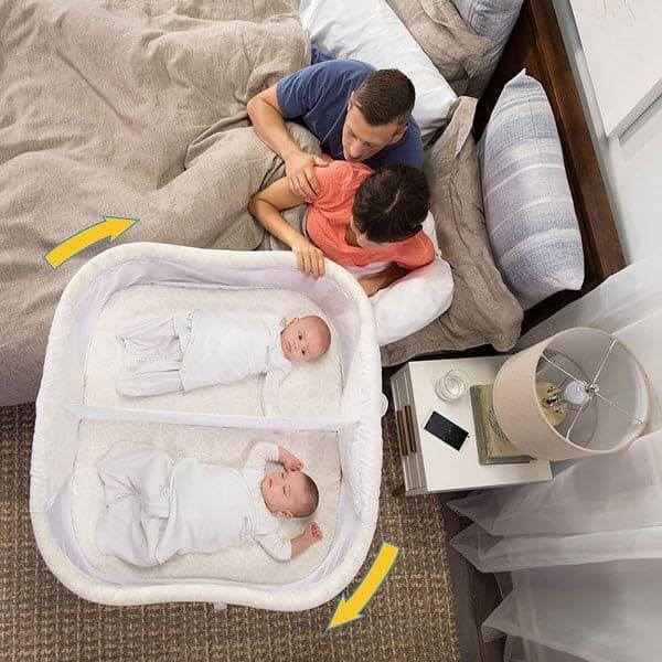 HALO BassiNest Twin Sleeper, Bedside Double Bassinet