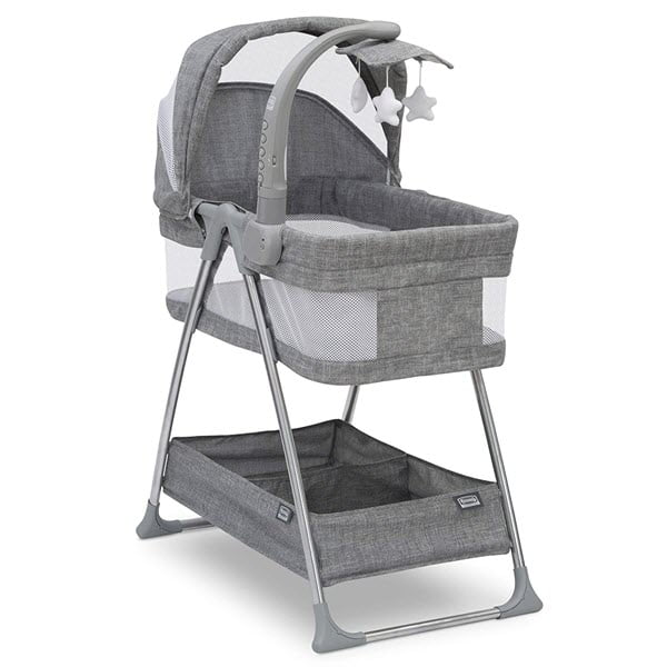 Simmons Kids City Sleeper Bedside Bassinet with mobile