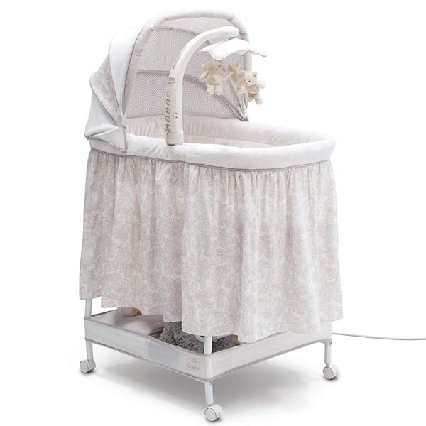 Simmons Kids Deluxe Hands-Free Auto-Glide Bassinet