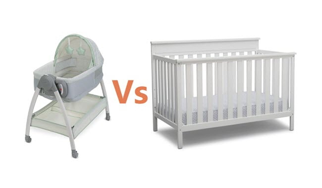 Bassinet and Crib size, dimensions and how it looks