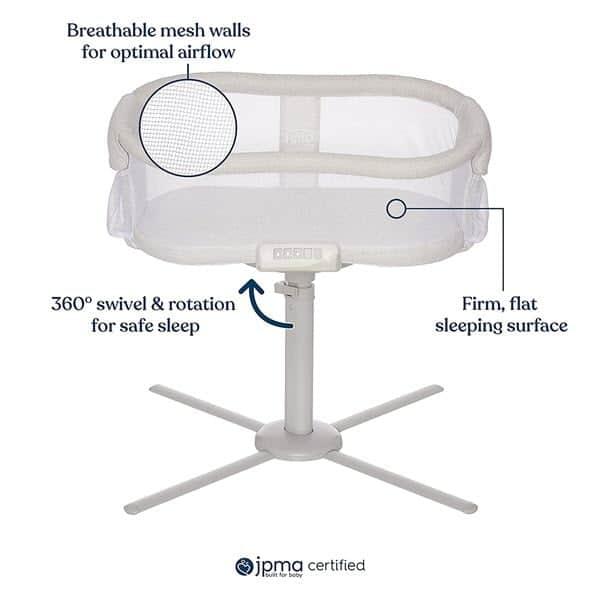 Breathable mesh HALO BassiNest Swivel Sleeper