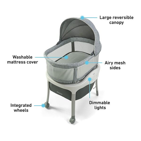 Graco Move 'n Soothe Bassinet features