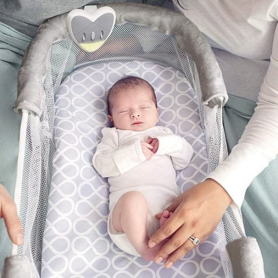 Mesh side of the SwaddleMe by Your Side Sleeper bassinet