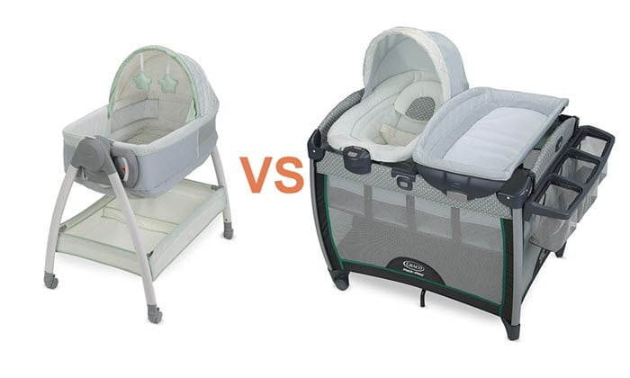 difference between bassinet and pack n play bassinet