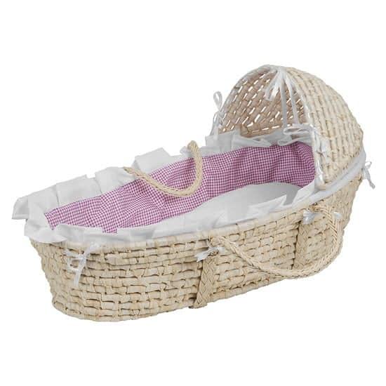 Badger Hooded Baby Moses Basket Bassinet