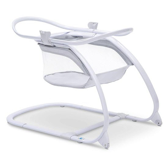 Delta Children Deluxe 2-in-1 Moses Bedside Bassinet with stand