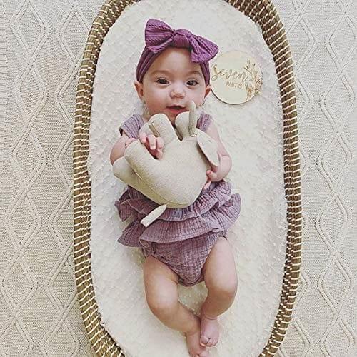 Linen Perch Mose basket bassinet for newborn baby
