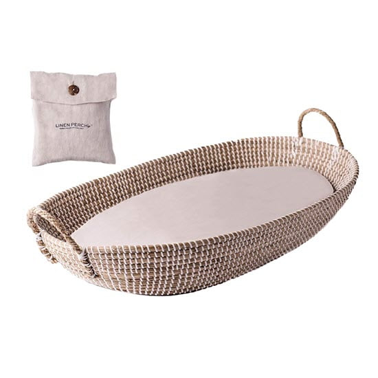 Linen Perch Moses Baby Moses Basket Bassinet
