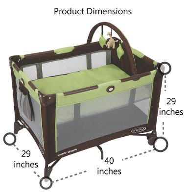 Pack n play dimension and size