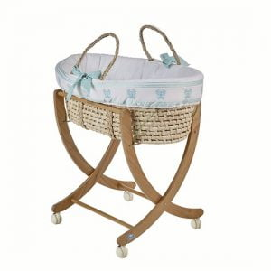 Pali Designs Isabella Moses Basket Bassinet with Stand