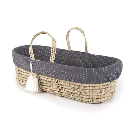 Tadpoles Line Stitched Moses Baby Basket
