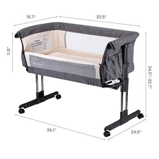 Mika Micky Bedside Sleeper Easy Folding Portable Crib Reviews