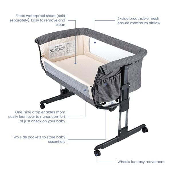 Mika Micky Bedside Sleeper bassinet features