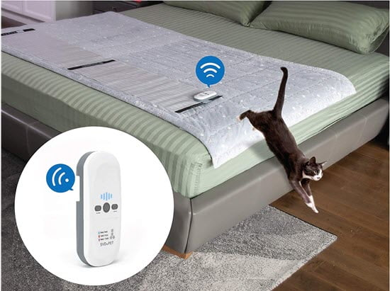 Pet Training Mat to stop cat sleeping in crib and bassinet