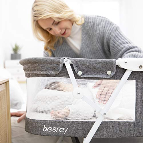 Mesh Side of the besrey Bassinet for Baby
