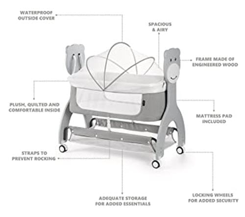 Dream on Me Cub Portable Rocking Bassinet features