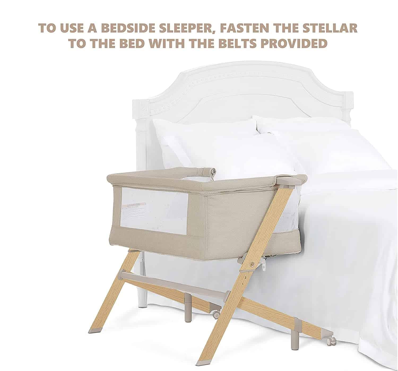 Evolur Stellar Bassinet and Bed Side Sleeper bedside sleeping