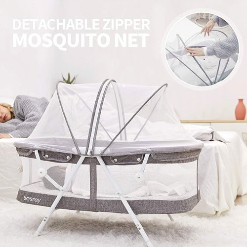 besrey Bassinet for Baby mosquito and canopy