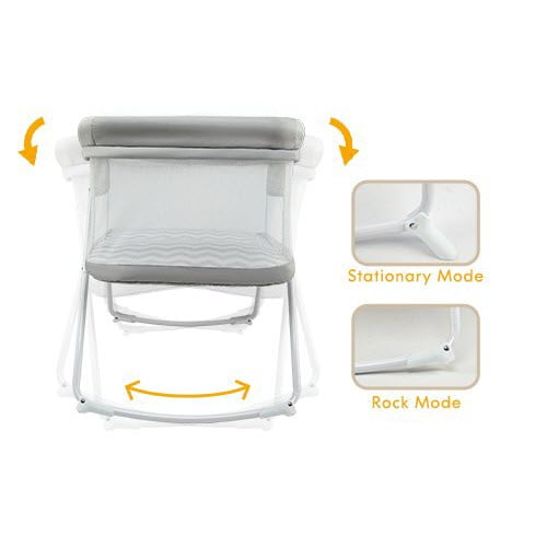 how rocking system of the Miclassic 2in1 Rocking Bassinet work