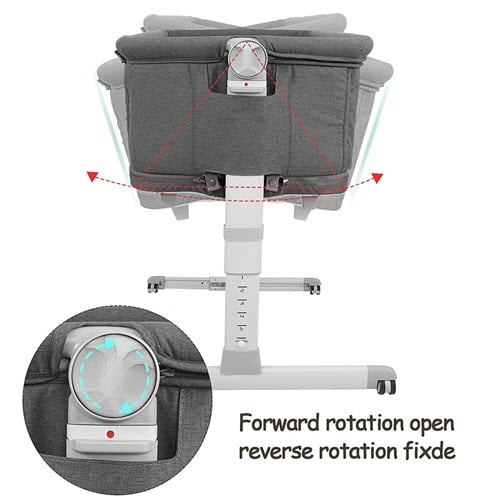 how to enable rocking feature of the Kidsclub 4 in 1 Baby Bassinet