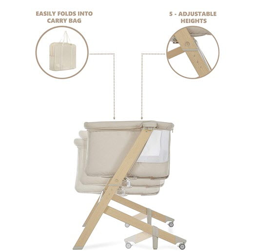 how to fold and rock the Evolur Stellar Bassinet and Bed Side Sleeper