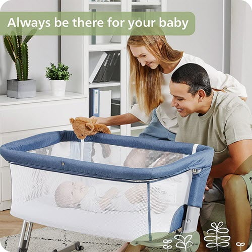 mesh side of the Unilove Hug Me Plus 3-in-1 Baby Bassinet